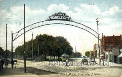 First Ward Park - Flint, Michigan MI Postcard