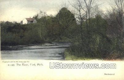 The River - Flint, Michigan MI Postcard
