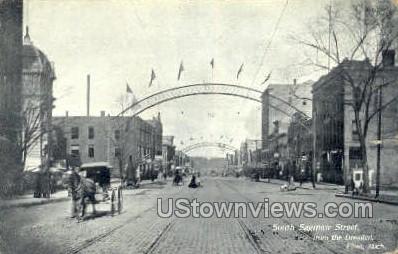 South Saginaw Street - Flint, Michigan MI Postcard
