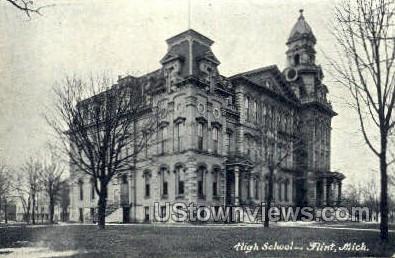 High School, Flint - Michigan MI Postcard
