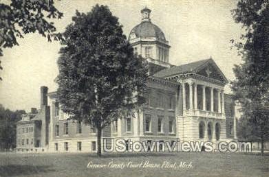 Genesee County Court House - Flint, Michigan MI Postcard