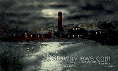 Mill by the Dam Site - Flint, Michigan MI Postcard