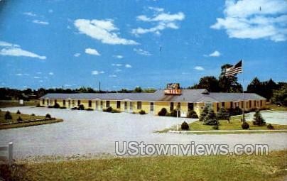 Baker's Triangle Motel - Grayling, Michigan MI Postcard