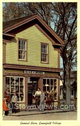 General Store - Dearborn, Michigan MI Postcard