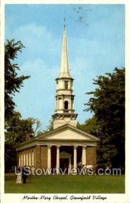 Martha-Mary Chapel - Dearborn, Michigan MI Postcard