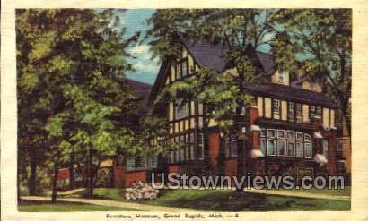 Furniture Museum - Grand Rapids, Michigan MI Postcard