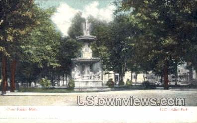Fulton Park - Grand Rapids, Michigan MI Postcard