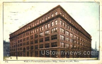 Waters Furniture Exposition Building - Grand Rapids, Michigan MI Postcard