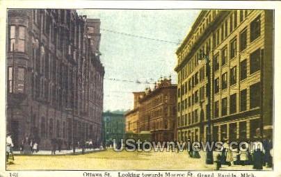 Ottawa St. - Grand Rapids, Michigan MI Postcard