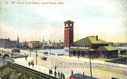 Grand Trunk Station - Grand Rapids, Michigan MI Postcard