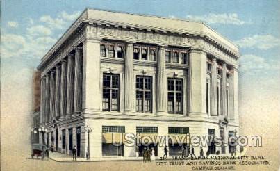 Grand Rapids National City Bank - Michigan MI Postcard