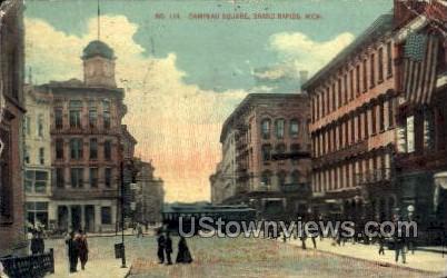 Campau Square - Grand Rapids, Michigan MI Postcard