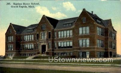 Sigsbee St. School - Grand Rapids, Michigan MI Postcard