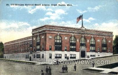 Michigan National Guard Armory - Grand Rapids Postcard