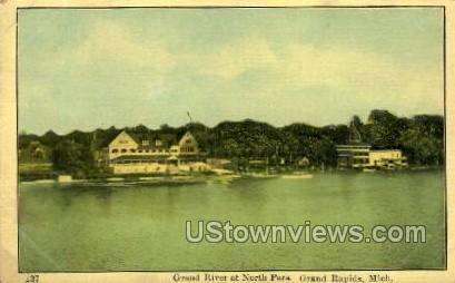 Grand River at North Park - Grand Rapids, Michigan MI Postcard