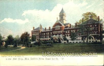 Main Building, Michigan Soldiers Home - Grand Rapids Postcard