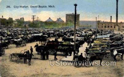 City Market - Grand Rapids, Michigan MI Postcard