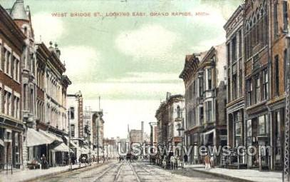 West Bridge St. - Grand Rapids, Michigan MI Postcard