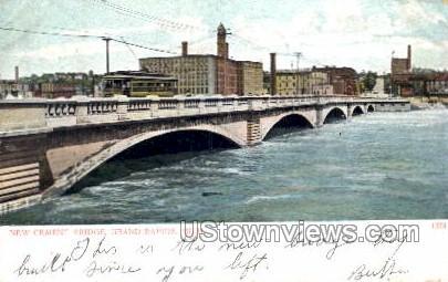 New Cement Bridge - Grand Rapids, Michigan MI Postcard