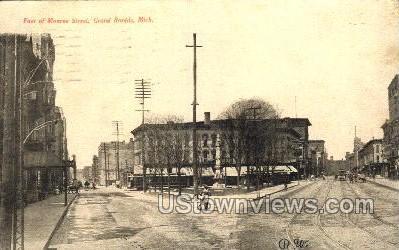 Foot of Monroe St. - Grand Rapids, Michigan MI Postcard