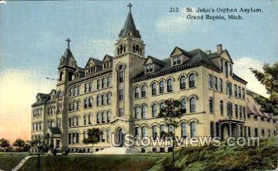 St. John's Orphan Asylum - Grand Rapids, Michigan MI Postcard