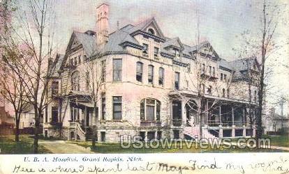 U.B.A Hospital  - Grand Rapids, Michigan MI Postcard