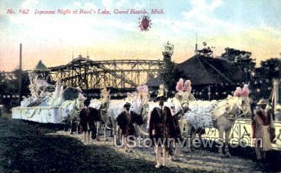 Japanese Night at Reed's Lake - Grand Rapids, Michigan MI Postcard