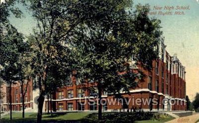 New High School - Grand Rapids, Michigan MI Postcard
