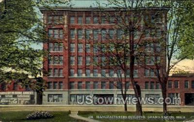 Manufacturers Building, Coca Cola sign  - Grand Rapids, Michigan MI Postcard
