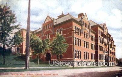 Central High School - Grand Rapids, Michigan MI Postcard