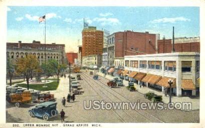 Upper Monroe Ave. - Grand Rapids, Michigan MI Postcard