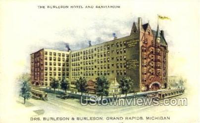 The Burleson Hotel and Sanitarium - Grand Rapids, Michigan MI Postcard