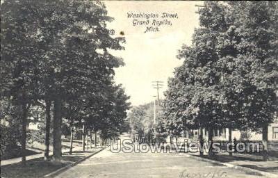 Washington Street - Grand Rapids, Michigan MI Postcard
