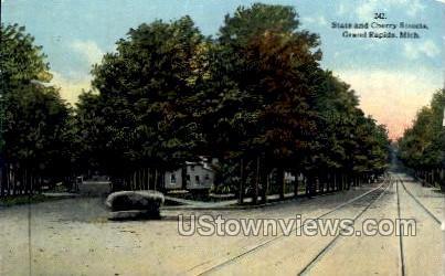 State and Cherry Streets - Grand Rapids, Michigan MI Postcard