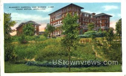Blodgett Hospital and Nurses' Home - Grand Rapids, Michigan MI Postcard