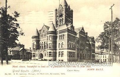 Court House - Grand Rapids, Michigan MI Postcard