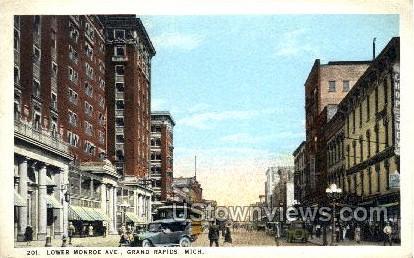 Lower Monroe Ave - Grand Rapids, Michigan MI Postcard