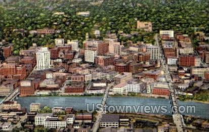Aerial view of Grand Rapids - Michigan MI Postcard