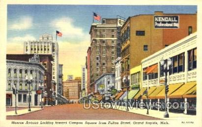Monroe Avenue - Grand Rapids, Michigan MI Postcard