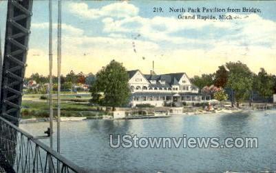 North Park Pavilion from Bridge - Grand Rapids, Michigan MI Postcard