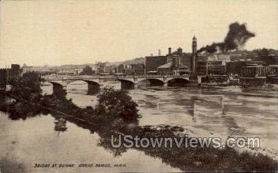 Bridge St. Bridge - Grand Rapids, Michigan MI Postcard