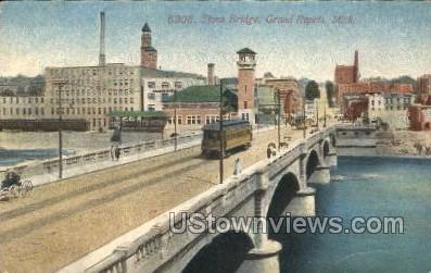 Stone Bridge - Grand Rapids, Michigan MI Postcard