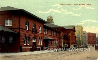 Union Depot - Grand Rapids, Michigan MI Postcard