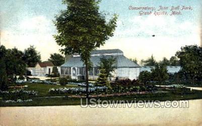 Conservatory John Ball Park - Grand Rapids, Michigan MI Postcard