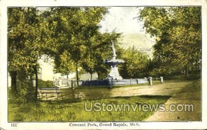 Crescent Park - Grand Rapids, Michigan MI Postcard