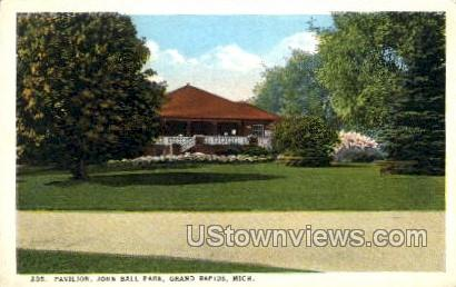 Pavilion John Ball Park - Grand Rapids, Michigan MI Postcard