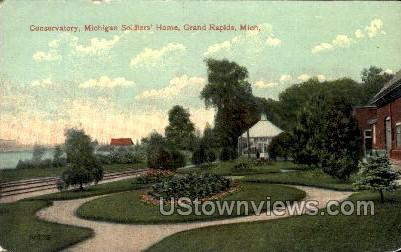 Conservatory Michigan Soldiers' Home - Grand Rapids Postcard