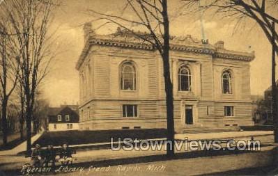 Ryerson Public Library - Grand Rapids, Michigan MI Postcard