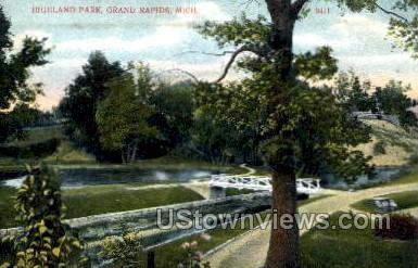 Highland Park - Grand Rapids, Michigan MI Postcard