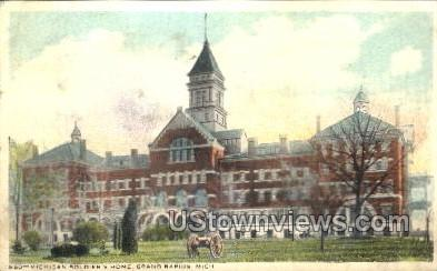 Michigan Soldiers Home Grounds - Grand Rapids Postcard